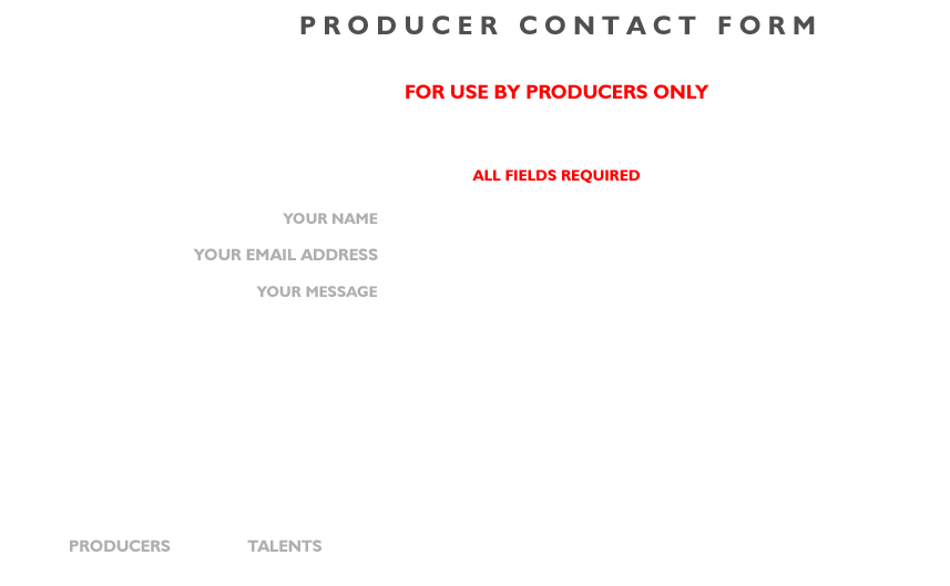 contact from producer